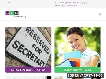 Zrzut strony BLD Consultancy - kursy językowe dla firm