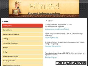 Zrzut strony Portal informacyjny - blink24.pl