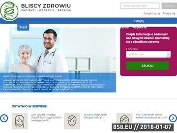 Zrzut strony BliscyZdrowiu.pl - uporządkuj swoje zdrowie