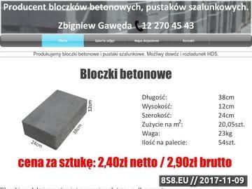Zrzut strony Pustaki szalunkowe Zbigniewa Gawędy