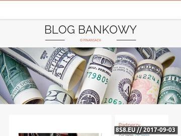 Zrzut strony Blog Bankowy - Porozmawiajmy o finansach