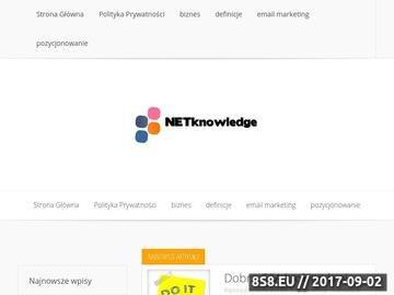 Zrzut strony Netknowledge