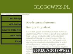 Miniaturka domeny www.blogowpis.pl