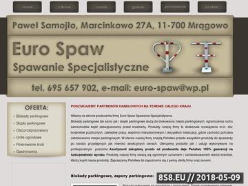 Zrzut strony Euro SPaw Mrągowo - blokady parkingowe, olej przepracowany
