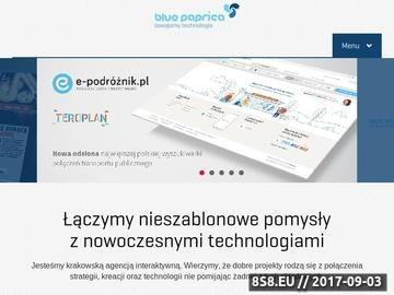 Zrzut strony Agencja Interaktywna BluePaprica
