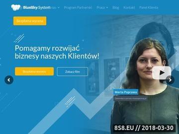 Zrzut strony BlueSky System-pozycjonowanie