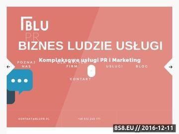 Zrzut strony BluPR-Agencja PR Gdynia