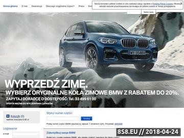 Zrzut strony Części do BMW