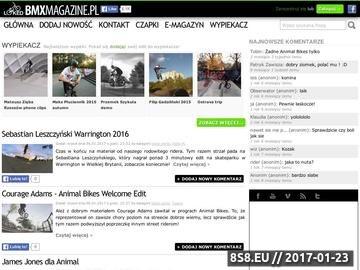Zrzut strony BMX - artykuł o jeździe na dwóch kółkach