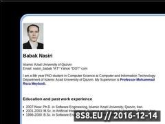 Thumbnail of Babak Nasiri home page Dy Meybodi Qazvin Azad Website