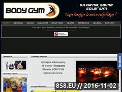 Miniaturka domeny www.bodygym.com.pl