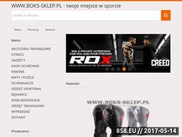 Zrzut strony BOKS-SKLEP.PL - Twoje miejsce w sporcie