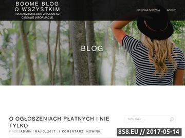 Zrzut strony Boome.pl - aukcje internetowe