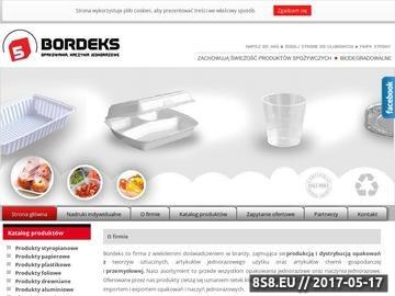 Zrzut strony Hurtownia Bordeks - naczynia jednorazowe i opakowania jednorazowe