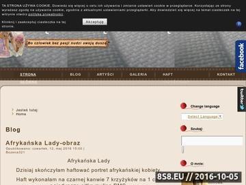 Zrzut strony Twój portal o hafcie krzyżykowym - Bozena321