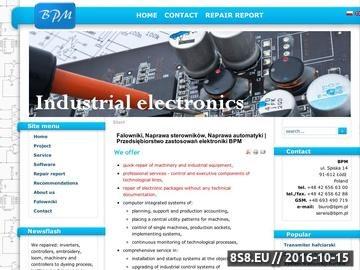 Zrzut strony Elektronika przemysłowa BPM