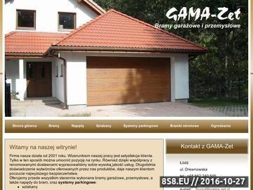 Zrzut strony GAMA-Zet BRAMY NAPĘDY SZLABANY