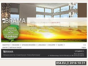Zrzut strony Brama - nowoczesne mieszkania w Łodzi