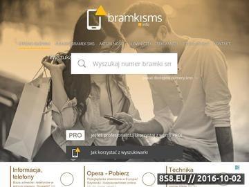 Zrzut strony Rejestr bramek SMS