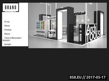 Zrzut strony Brand Creation - zabudowa stoisk targowych