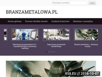 Zrzut strony Serwis Branża Metalowa