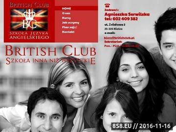 Zrzut strony Szkoła Języka Angielskigo