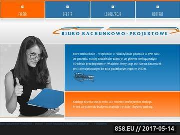 Zrzut strony Biuro Rachunkowo Projektowe - Firma