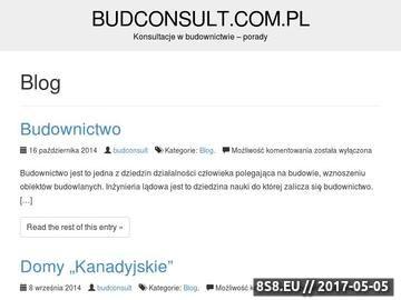 Zrzut strony BudConsult - projekty budowlane