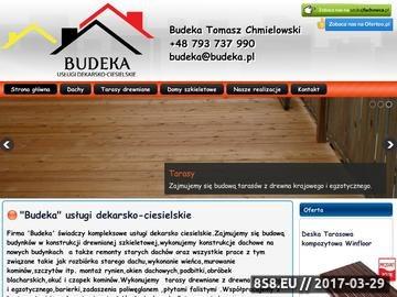 Zrzut strony Dekarz, cieśla - dachy, blachodachówka i taras drewniany