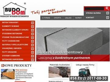 Zrzut strony Producent stropów żerań oraz beton towarowy i specjalistyczny.