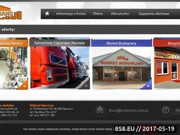 Zrzut strony Przedsiębiorstwo wielobranżowe BUDOTRANS market budowlany