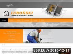 Miniaturka domeny www.budownictwo-lubonski.pl