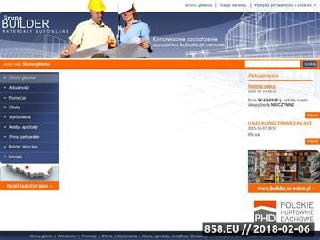 Zrzut strony Builder - izolacje