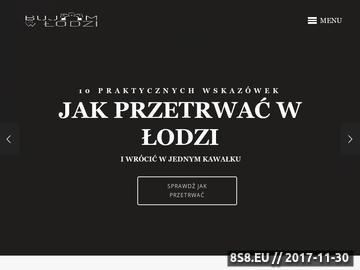Zrzut strony Turystyczny spacerownik po Łodzi