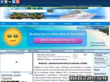 Zrzut strony Do Bułgarii na wakacje, wczasy i wycieczki oraz pogoda, opinie i last minute.