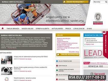 Zrzut strony Bureauveritas.pl - usługi przemysłowe