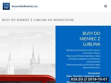 Zrzut strony Przewóz osób do Niemiec, wynajem busów Lublin i busy do Niemiec