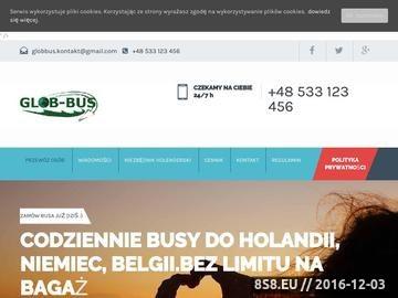 Zrzut strony Codziennie przejazdy busem z Polski do Holandii, Tylko z Nami