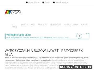 Zrzut strony Tomasz Mila - pomoc drogowa