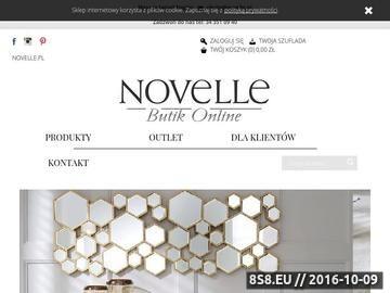 Zrzut strony Sklep on-line oferujący wyprzedaż stylowych mebli włoskich