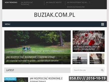 Zrzut strony Buziak.com.pl - wszystko o portalach randkowych