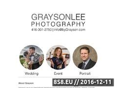 Grayson Lee Photography and Design - Toronto Website