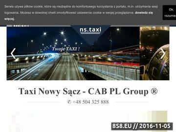 Zrzut strony Taxi Nowy Sącz