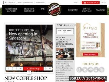 Zrzut strony Caffe Vergnano Polska | Horeca, sprzedaż kawy, kawa gastronomiczna