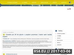 Miniaturka domeny www.candelabi.pl