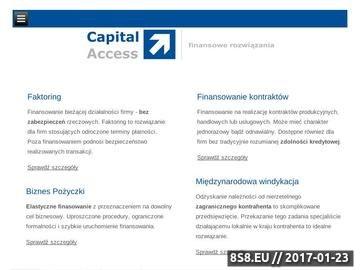 Zrzut strony Capital Access - finansowanie