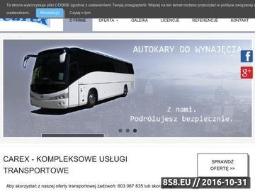 Zrzut strony Wynajem limuzyn, busów oraz autokarów