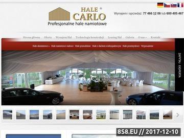 Zrzut strony Hale namiotwe i magazynowe - od Carlo