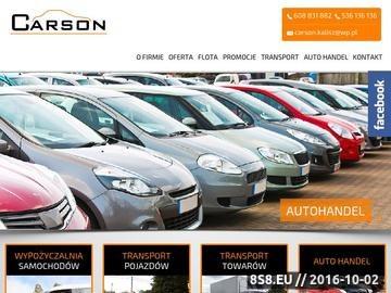 Zrzut strony Wypożyczalnia samochodów i autolawet CARSON Kalisz