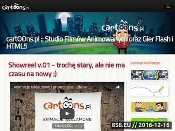 Zrzut strony Studio produkcji animacji i gier Flash